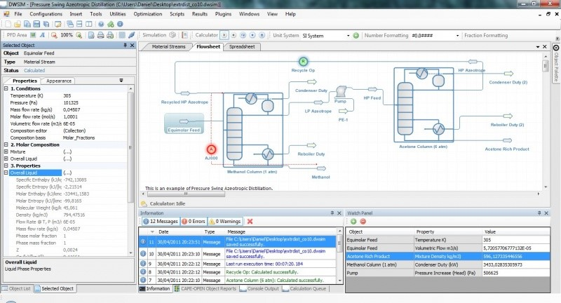 Figure 1: DWSIM User Interface